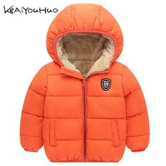 SO-buts Kids Toddler Baby Boys Girls Winter Thicken Cartoon Windproof Coat Hooded Snow Warm Outwear Jacket