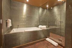 metallic bathroom: me gusta