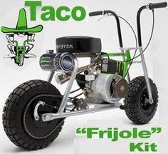 Take a look at this fantastic brat motorcycle harley davidson - what an original concept Mini Bike, Mini Motorbike, Motorcycle Bike, Mustang Wheels, Car Wheels, Moped Scooter, Vespa, Drift Trike, Bike Kit