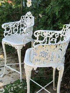 Similar Chairs to mine outside in my Yard
