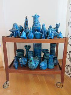 Bitossi Flavia Aldo Londi Rimini Blu Animals & Vases Collection, Opal Teak Trolley Servierwargen   Flickr - Photo Sharing!