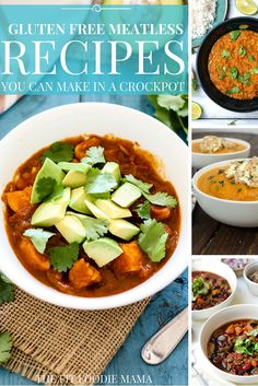 Gluten Free Meatless Recipes You Can Make In A Crockpot! {Vegetarian, Vegan, Dinner, Meal, Soup, Healthy, Meatless Monday} #FitFluential TheFitFoodieMama.com