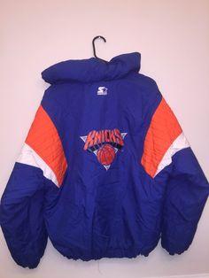 83428018d Vintage 90 s Starter NBA New York Knicks Pullover Parka Coat - Size XL