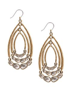 Two-Tone Multi-Hoop Drop Earrings | Lord and Taylor