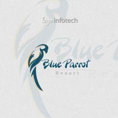 Blue Parrot Resort Designing Logo
