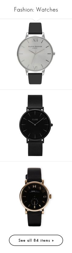 """Fashion: Watches"" by katiasitems on Polyvore featuring watches, jewelry, accessories, bracelets, relógios, mesh jewelry, peace symbol jewelry, cluse watches, peace sign jewelry and quartz movement watches"