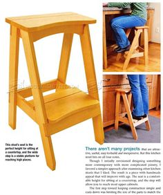 #3220 Kitchen Step Stool Plans - Furniture Plans