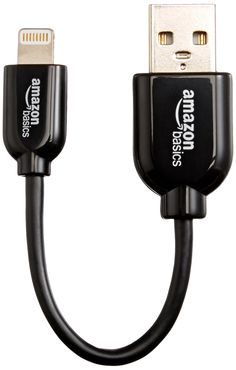 Amazon.com: AmazonBasics Apple Certified Lightning to USB Cable - 4-Inches (10 Centimeters) - Black: Computers & Accessories