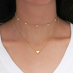 Product Information Product Type: Choker Necklace Size: Adjustable 30 - 37 cm heart choker gold silver tiny chain Gold Name Necklace, Diamond Solitaire Necklace, Bridal Necklace, Diamond Necklaces, Pearl Necklace, Wing Necklace, Cute Jewelry, Women Jewelry, Fashion Necklace