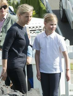 Wessex And Her Daughter Lady Louise Windsor At The Remote Control Land Rover Stand Royal Horse Show Home Park On May 2014 In