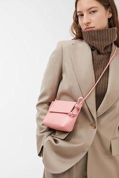 Leather Mini Bag - Pink - Bags & accessories - ARKET GB Source by phunnaya Bags for work Cheap Handbags, Luxury Handbags, Handbag Storage, Tweed, Crossbody Messenger Bag, Medium Bags, Casual Bags, Cloth Bags, Leather