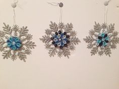 Snowflake ornament Christmas ornament handmade by FunWithWreaths, $6.00