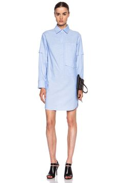 Alexander Wang Cotton Shirt Dress in Pool | FWRD