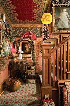 Brian Coleman's Amazing House in Seattle. The back staircase  @TheDailyBasics  ♥♥  Read 'How to get the Look' ->http://thedailybasics.com/boho-design/