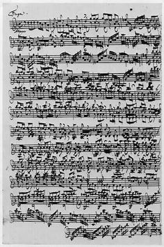 One of Johann Sebastian Bachs Solo Violin Sonatas - click to enlarge. Wonderful for collage background!