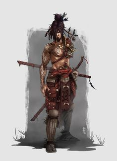 Tribal Samurai by André Carnero