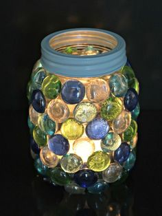n this tutorial, we show you how to make your own beautiful glass gem lantern that is perfect to hold a candle or LED lights. Mason Jar Christmas Crafts, Mason Jar Crafts, Diy Christmas, Xmas, Mason Jar Lanterns, Mason Jar Lighting, Gem Crafts, Crafts To Make, Kids Crafts