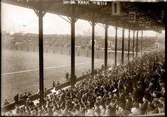 October 8, 1913. First-base grandstand at Shibe Park, Philadelphia. 1913 World Series.