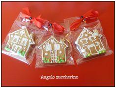 Mini casette in pan di zenzero idea regalo Natale