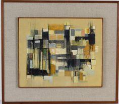 """IONE SALDANHA """"Cidade """" óleo sobre tela, 46 x 55 cm. Assinado no canto inferior direito. No"""