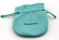 df08f31989a Tiffany & Co. Pouch Aqua Blue Suede Jewelry Pouch 3.50