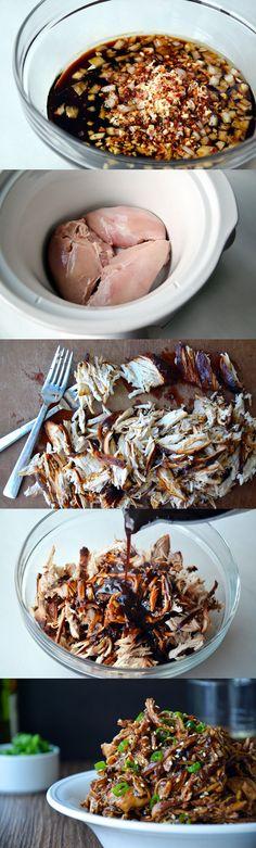 Slow Cooker Honey Garlic Chicken - Crazy Taste Buds