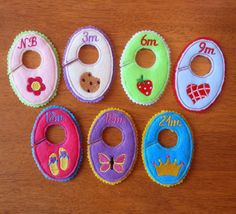 In The hoop Baby Girl Closet Organizer Tab Designs for Embroidery Machines. $7.99, via Etsy.