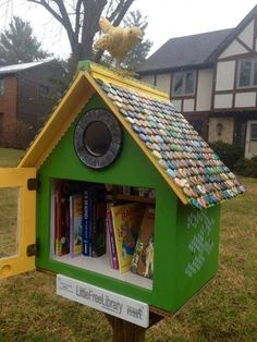 The Little Free Library of the Day is #9396 in Columbus, Ohio