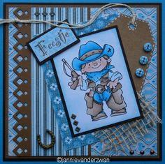 Welkom bij Jannie van der Zwan: Young Rebels Boy Cards, Kids Cards, Scrapbook Examples, Lily Of The Valley, Stamp Collecting, Clear Stamps, Crazy Cats, Cowboys, Rebel