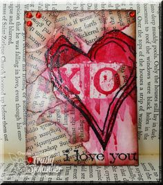 Splitcoaststampers FOOGallery - Mix-Ability Heart ATC Triple Play!