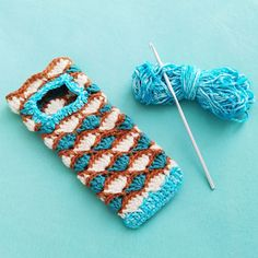 Sea Shell Smartphone Case Crochet Pattern – Nice crocheting! Half Double Crochet, Single Crochet, Crochet Hooks, Free Crochet, Coastal Style, Slip Stitch, Sea Shells, Crocheting, Crochet Earrings