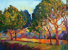 Ficus Mosaic Painting by Erin Hanson