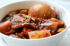Jajang Tteokbokki (Korean Rice Cakes With Black Bean Sauce) | All That Korea