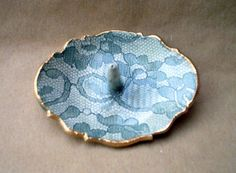 Ceramic Lace Ring Holder by dgordon on Etsy