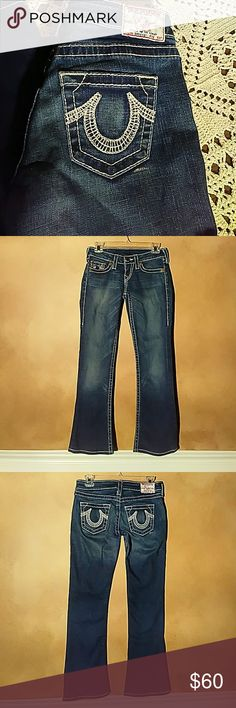 True Religion Bobby Big T Jeans True Religion Bobby Big T Jeans Size 26 Inseam 30 Condition good - like new True Religion Jeans Boot Cut
