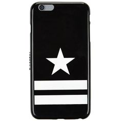 Givenchy iPhone 6 Plus Stars and Stripes Phone Case ($140) ❤ liked on Polyvore featuring accessories, tech accessories, phone cases, phone, electronics, black and givenchy