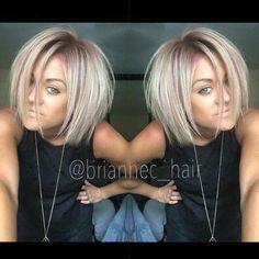 Blonde and light purple