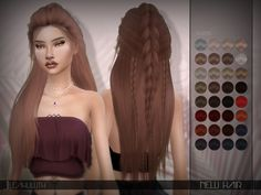 Nelli Hair Found in TSR Category 'Sims 4 Female Hairstyles'
