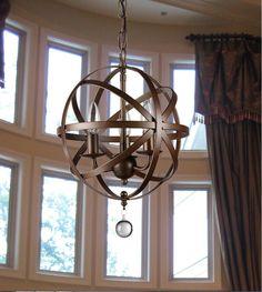 Chandeliers For Dining Rooms Rustic Light Fixtures Ceiling Metal Orb Lighting  #WarehouseofTiffany #Rustic