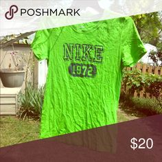 Nike 1972 slim fit green short sleeve shirt Nike 1972 slim fit green short sleeve shirt- wash wear but still wearable. Nike Tops Tees - Short Sleeve