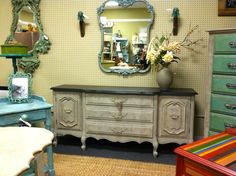 overview of the booth at West End Antiques