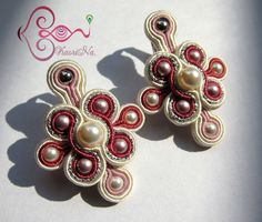 ソウタシエ・イヤリング KaoriNa. Soutache Earrings - SAKURA