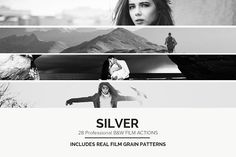 Silver - 28 Real B&W Film Emulations - Actions