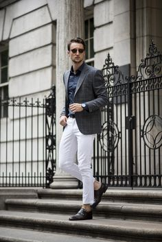 Blazer with White Denim