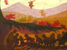 Glückwunschkarten - Herbst Wurzelkinder - ein Designerstück von art4windows bei…