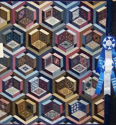 Image result for TUMBLING BLOCK QUILT PATTERNS