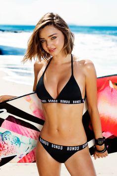 Miranda Kerr shows off her beach body in BONDS SWIM 2016 collection