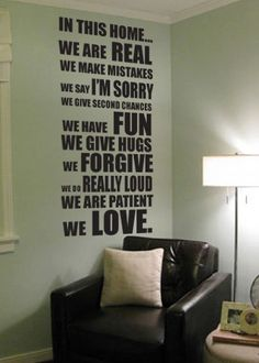 In this home vinyl wall decal