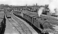 Cardiff Dock, Wales, with the ex Rhymney 0-6-2T.