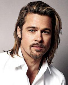 Brad Pitt amazing haircut with long hair 2017 Guy Haircuts Long, Mens Medium Length Hairstyles, Long Haircut Male, Trending Hairstyles, Boy Hairstyles, Hairstyle Ideas, Brad Pitt, Medium Hair Styles, Short Hair Styles